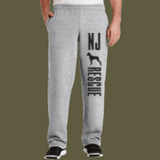Open Hem Sweat Pants