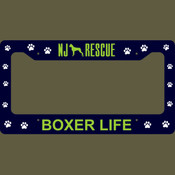 NJ Boxer License Plate Holder